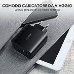 AUKEY-Quick-Charge-30-Caricabatterie-USB-da-Muro-42W-4-Porte-Caricatore-USB-per-Samsung-Galaxy-S9-S8-Note-8-LG-G5-G6-Nexus-5X-6-HTC-10-iPhone-XS-XS-Max-XR-iPad-Pro-Air-ecc