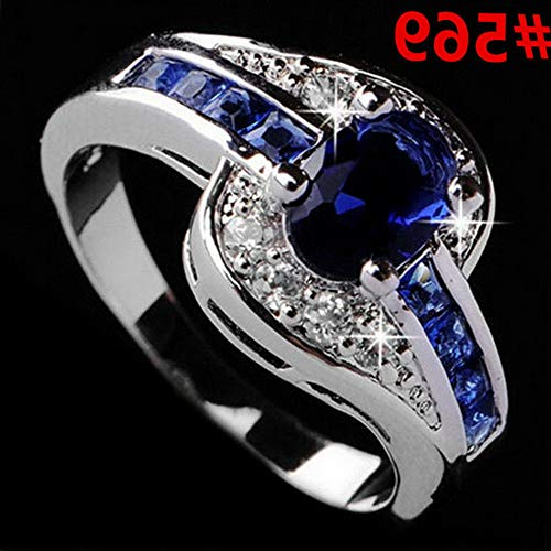 Endicot Women Engagement Wedding Ring Crystal Rhinestone White Gold Plated Rings Jewelry   Model RNG - 5014   9