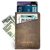 Slim Front Pocket Leather Wallet for Men Card Holder Up to 8 Cards