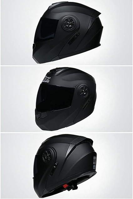 Bianco Argento S Jitong Casco Moto Integrale Doppia Visiera Caschi Modulare Donna Uomo Caschi Apribili Leggero per Moto Scooter