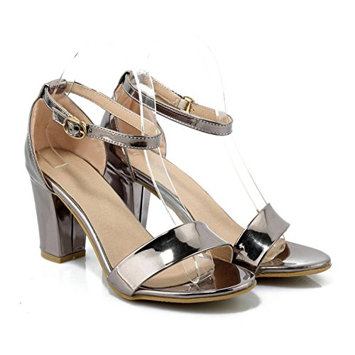 Slope Spitze Frauen Schuhe Grau Sandalen Offene Heels Sandalen Breathable 2018 Damenmode High Neue Fashion Täglichen Heel Casual Frauen Neue Retro Sommer 7KACSCqw