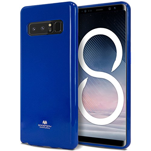 (Galaxy Note 8 Case, [Thin Slim] GOOSPERY [Flexible] Pearl Jelly Rubber TPU Case [Lightweight] Bumper Cover [Impact Resistant] for Samsung Galaxy Note 8 (Navy) NT8-JEL-NVY)