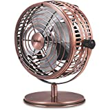 Holmes Heritage Desk Fan 6-inch Brushed Copper (Renewed)