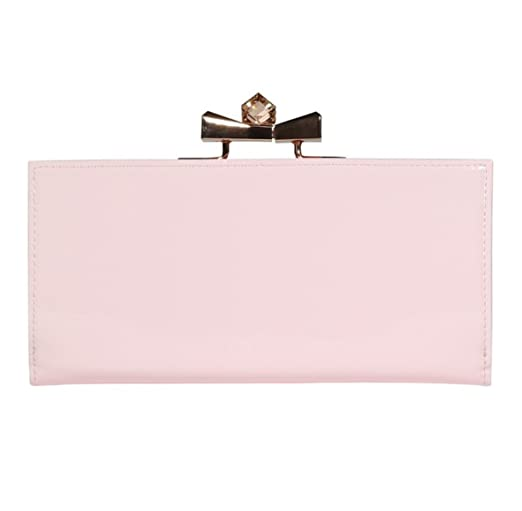 Ted Baker Franny Crystal Popper Baby Pink Patent Leather Matinee Purse Wallet by Ted Baker