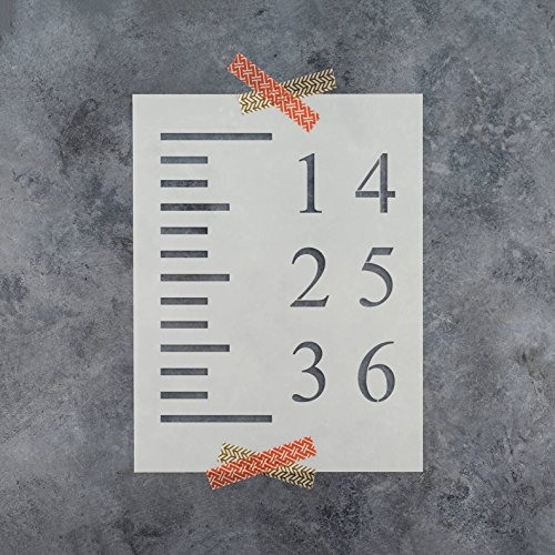 Growth Chart Stencil Template - Reusable Stencil Growth Chart Rulers - Better Than Decals! by Stencil Revolution