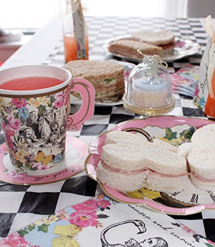 Talking Tables Truly Alice Mad Hatter Cup & Saucer for a Tea Party, Multicolor (12 Pack) by Talking Tables (Image #5)