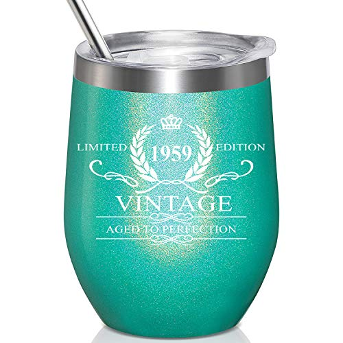 1959 Vintage Aged to Perfection Stainless Steel Wine