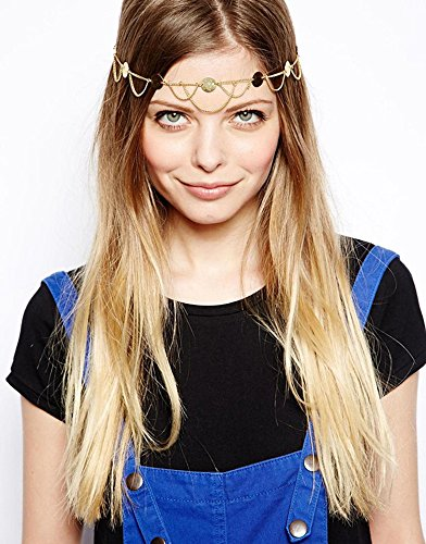 [Hypnotique Princess Crown Head Chain] (Black Arabian Princess Costume)