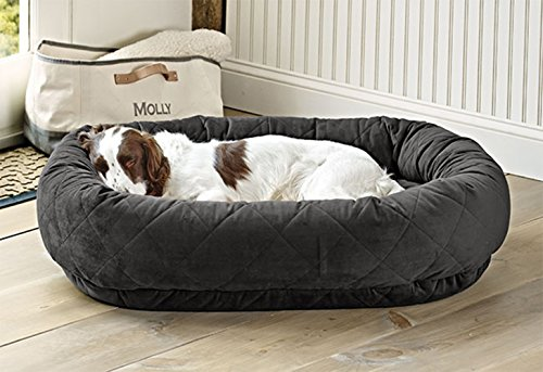 Orvis Memory Foam Wraparound Dog Bed/Small Dogs Up To 40 Lbs, Slate Memory Foam Oval Beds