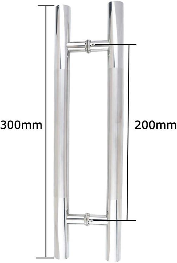Size : 600/×400mm Thick Stainless Steel Round Pipe Door Handle Home Office Glass Door Handle Bathroom Shower Sliding Door Handle