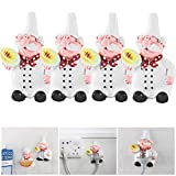 ALLOMN 4pcs Mobile Power Plug Hook Resin Fat Chef Power Cable Hanger Wall Decor Organiser for Home, Kitchen, Garden, Garage Organizing (Style 1)