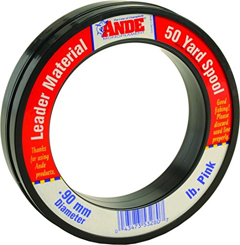 Ande FPW-50-60 Fluorocarbon Leader Material, 50-Yard Spool, 60-Pound Test, Pink Finish