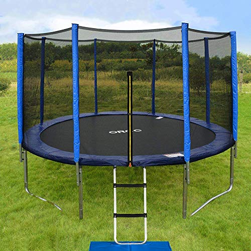 ORCC 15 14 12 10FT Kids Trampoline, TÜV Certificated Yard Trampoline with Enclosure Net Jumping Mat Spring Pad Wind Stakes Rain Cover and Pull T-Hook, Best Gift for Kids by ORCC (Image #6)