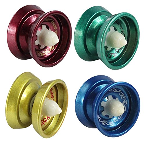 RoseSummer Cool Aluminum Design Professional YoYo Ball Bearing String Trick Alloy (Cheap Yoyos)