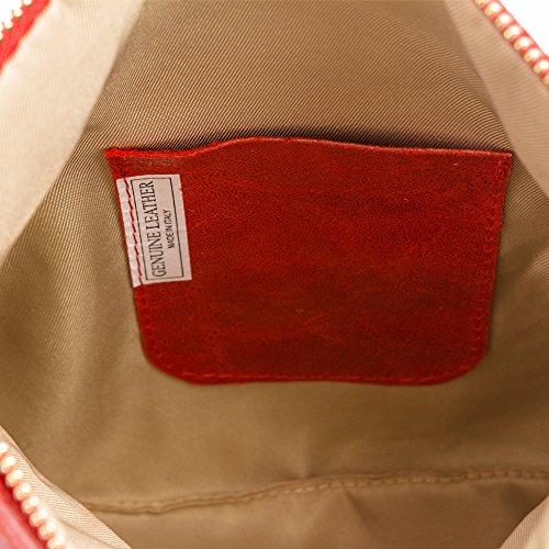Pelle 27x18x5 Lavado borla Decorativa bolso Piedra Artegiani Rojo Lacado Firenze Mujer Italy Italiana Bandolera In Cm Mujer Cuero Genuino Piel Vera Made Color Auténtica Bolso bolso BRn8wxq7n