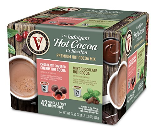 Chocolate Covered Mint - Victor Allens Hot Cocoa Chocolate Covered Cherry & Mint Chocolate (Variety Pack of 42)
