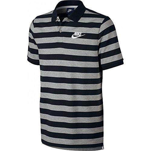 Nike M NSW POLO PQ STRP BLD MCHP Polo - Nero S, Uomo