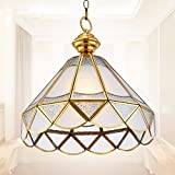 LoveScc Creative Chandeliers Home Lighting Living Room Dining Room Bedroom Chandeliers Continental All Copper  Balcony Corridor Outdoor Single Head Lights 36*33Cm