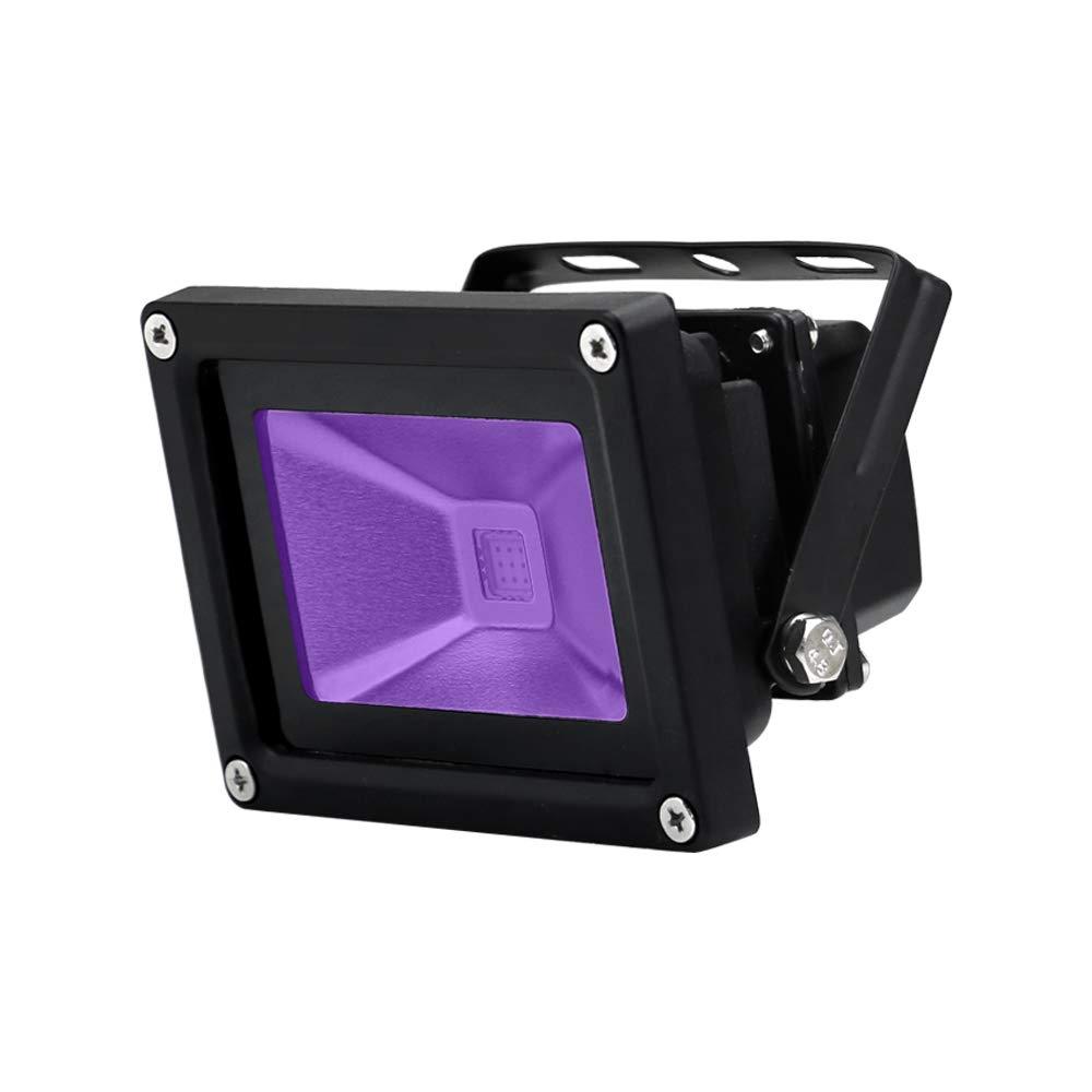 YQL Outdoor UV Black Light,10W Ultra Violet LED Flood Light,Blacklights for DJ Disco Night Clubs,UV Light Glow Bar,Blacklight Dance Party,Stage Lighting,glow in the dark party supplies