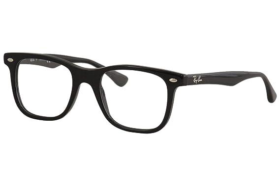 Ray-Ban Mens RX5248 Eyeglasses Shiny Black 49mm