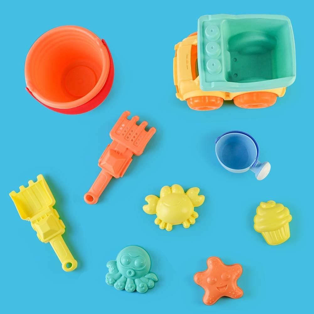 TONZE Sandspielzeug Set Sandkasten Spielzeug Strand Spielzeug Sandspielzeug Junge Sandschaufel Sandf/örmchen Sandspielzeug EIS,/Bagger Sandkasten Gartenspielzeug f/ür Kinder Spielzeug Jungen M/ädchen/