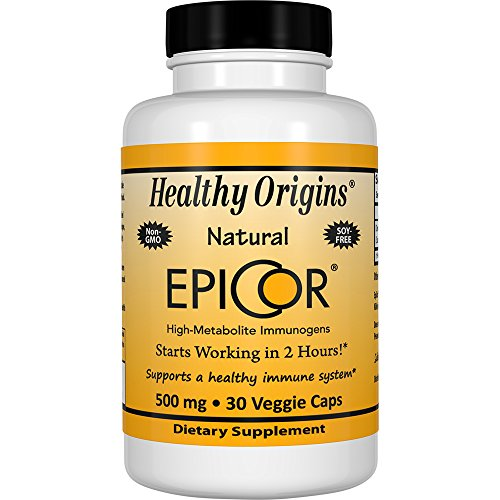 Healthy Origins EpiCor (Clinically Proven Immune Support) 500 mg, 30 Veggie Capsules For Sale