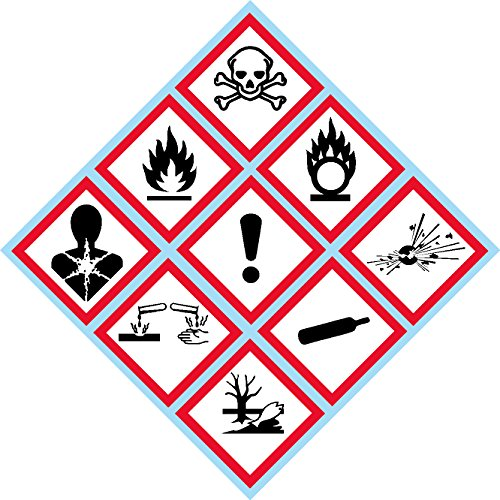 OSHA, Compliant, GHS Batch Pictogram, kit, Laminated, Safety Decal, Label, Vinyl, Sticker, 4