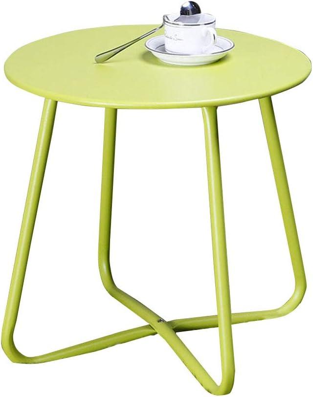 Beperkt Nieuw Side table-Q QFF woonkamertafel, slaapkamer ijzeren kunst multifunctionele kleur nachtkastje balkon sofa bijzettafel - 45 x 45 cm Gras Groen rlRGVN2