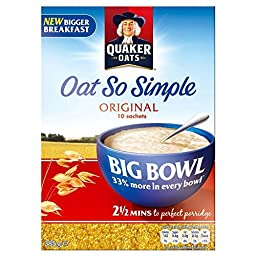 Quaker Oat So Simple Big Bowl Original (10 per pack - 385g) - Pack of 2