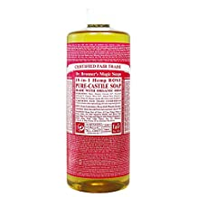 Dr. Bronner's Magic Soap Organic Rose Oil Castile Soap, 946-Milliliter