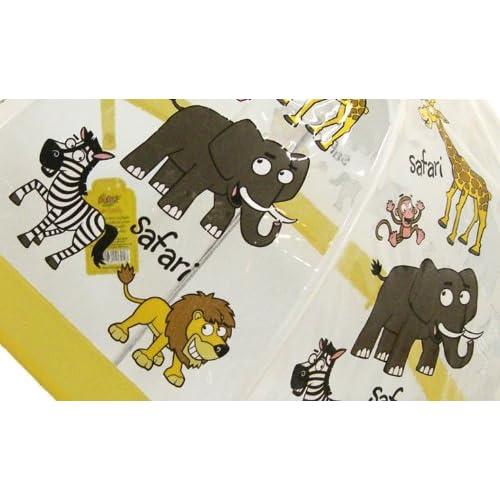 Bugzz Kids Clear Safari Print Umbrella