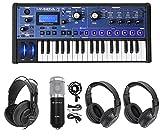Novation MiniNova 37-Key USB MIDI Keyboard Synth+(2) Headphones+Studio Mic