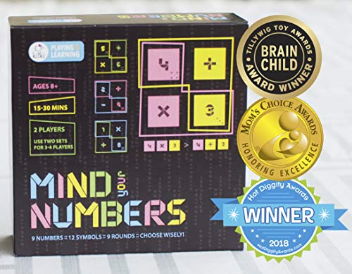 Kitki Mind Your Numbers Math Game Number Fun with Addition Subtraction Multiplication Division STEM Toy Gift for Kids
