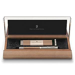 Faber-Castell 118517 - Paquete de 4 lápices de madera con accesorios, marrón