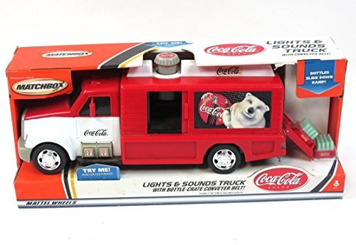 (Coca-Cola Matchbox Delivery Truck w/ Lights & Sounds 2000 New In)