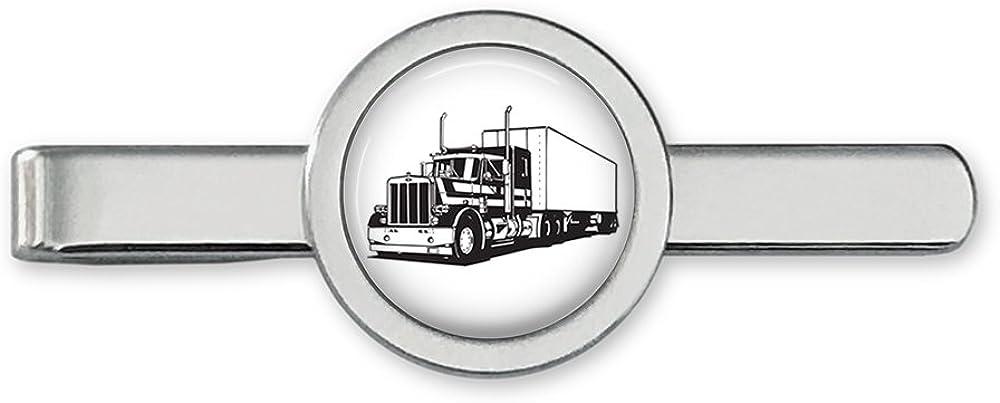 Big Rig Tie Clip Semi Truck Driver Tie Bar Truck Cufflinks Accessories