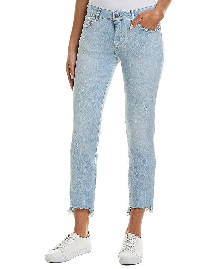 Blue DL1961 Womens Premium Denim Mara White Hot Instasculpt Straight Ankle Cut 24
