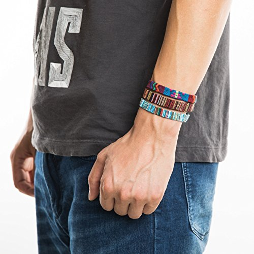 HZMAN Mix 6 Wrap Bracelets Men Women, Hemp Cords Ethnic Tribal Bracelets Wristbands (Mix 6 Wrap) by HZMAN (Image #7)