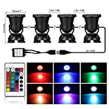 Remote Control RGB LED Pond Spotlight Underwater Aquarium Fish Tank Lighting AC100-240V UK Pl