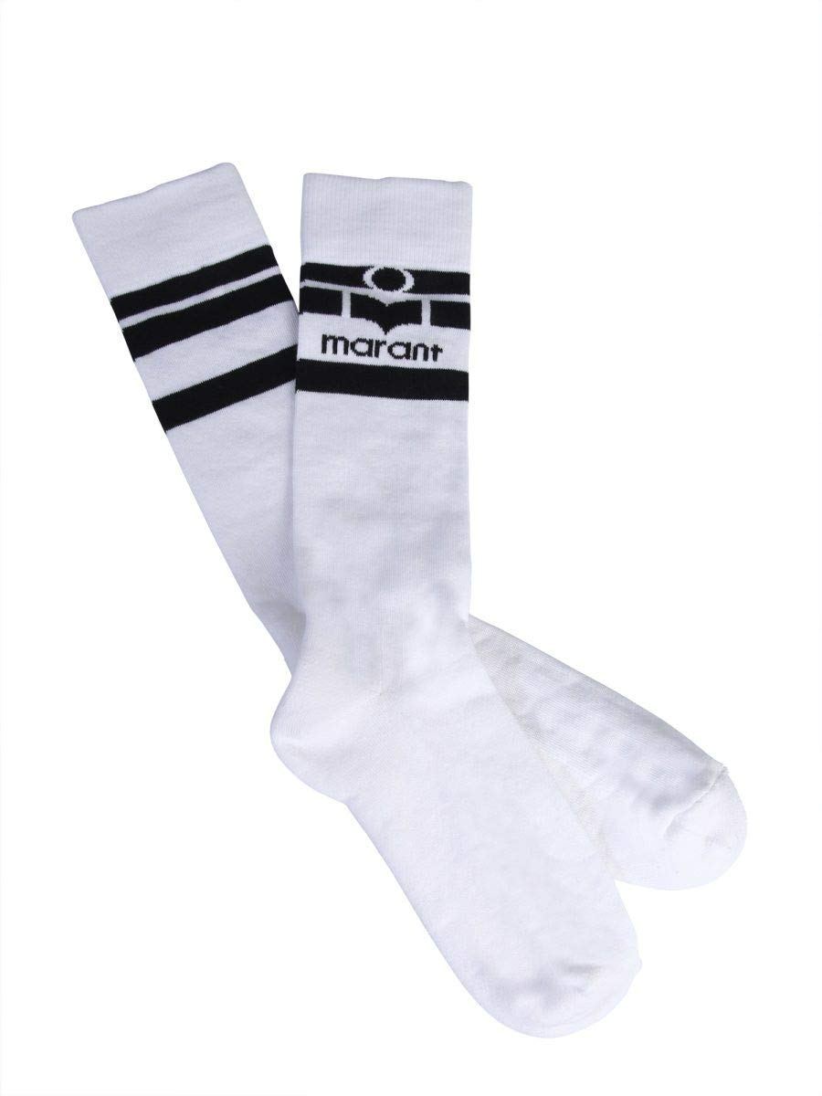Isabel Marant Étoile Women's CT004719P035A20WH White Cotton Socks