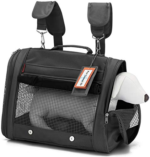 Prefer Pets Hideaway Pet Travel Carrier Airline Approved Travel Carrier – Provides A Safe Secure Way to Travel – Helps Reduce Pet s Fear Anxiety