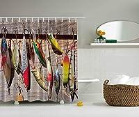 Fishing Lures Bathroom Shower Curtain