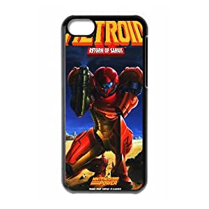 Metroid Game iPhone 5c Cell Phone Case Black Customized Toy pxf005_9702960