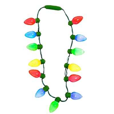 "16"" LIGHTP CHRISTMAS BULB NECKLACE: Toys & Games"
