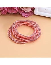 Tabanlly Universele Spiraal Stam Relief Cord,1.4M Draad Organizer Kabel Protectors Relief Cord Sleeves