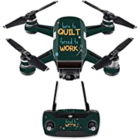 Skin for DJI Spark Mini Drone Combo - Born To Quilt| MightySkins Protective, Durable, and Unique Vinyl Decal wrap cover | Easy To Apply, Remove, and Change Styles | Made in the USA