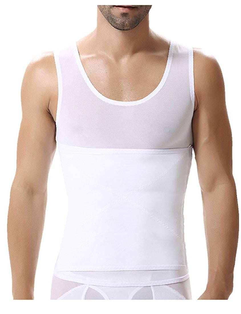 AbePa Mens Body Sculpting Vest Fitness Thin Section Shapewear Exercise Shirt Shapewear