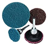 United Abrasives 2'' Very Fine Grade Aluminum Oxide SAIT-Lok-R Blue Non-Woven Surface Conditioning Disc