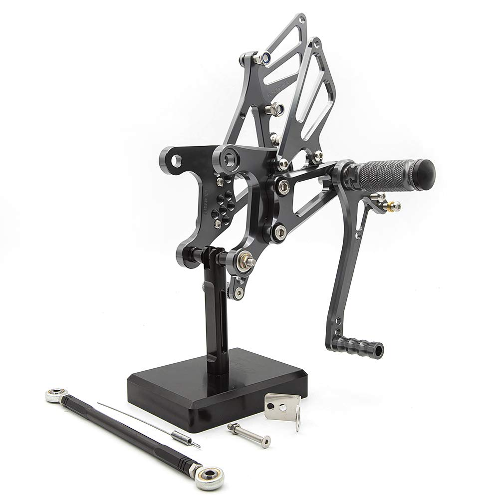 FXCNC Racing 05-08 ZX-6R Motorcycle Rearsets Foot Pegs Rear Set Footrests Fully Adjustable Foot Boards Fit For Kawasaki Ninja ZX6R ZX636 2005 2006 2007 2008