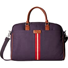 Tommy Hilfiger Mens Elijah - Canvas w/ PVC Trim Briefcase